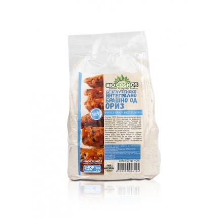 Безглутенско брашно од интегрален ориз (500гр.)