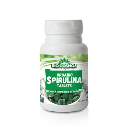 Органска спирулина во таблети