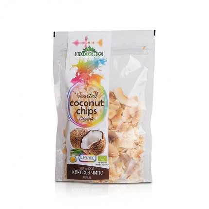 Органски печен кокосов чипс (70гр.)