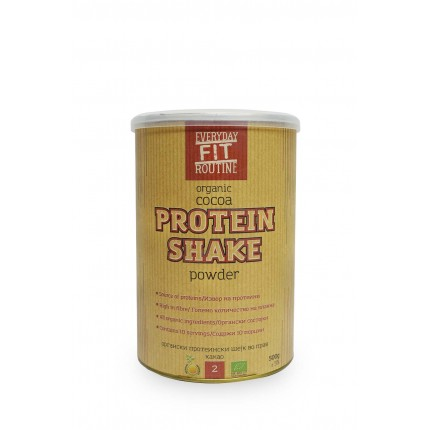 Органски протеински шејк во прав со какао (500гр.)