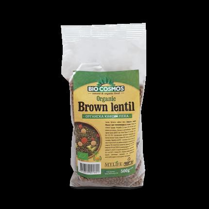 Леќа кафена органска 0,5 кг