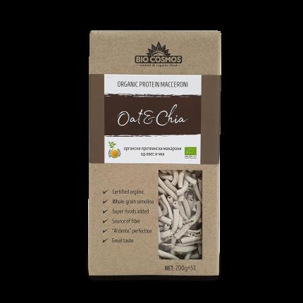 Органски протеински макарони од овес и чиа (200гр.)