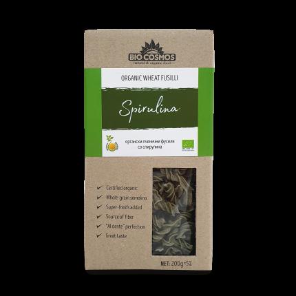 Органски пченични фусили со спирулина (200гр.)